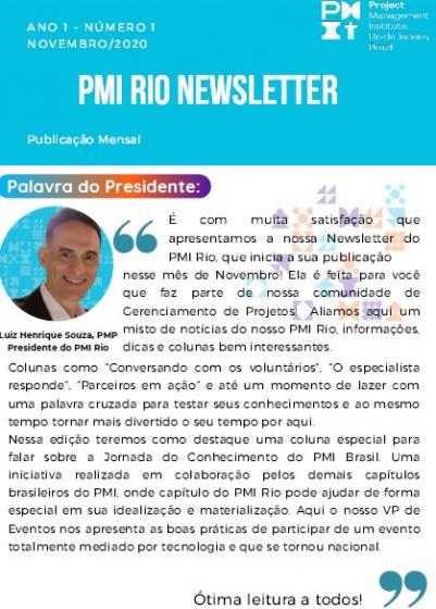PMI RIO NEWSLETTER - Novembro/2020