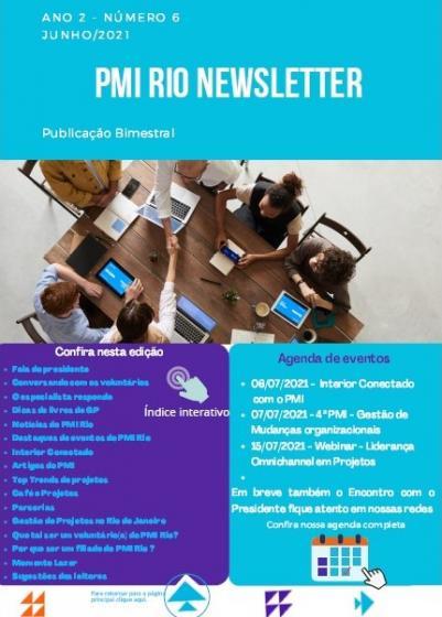 PMI RIO NEWSLETTER - Junho/2021