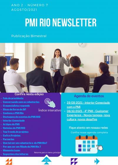 PMI RIO NEWSLETTER - Agosto/2021
