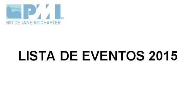 LISTA DE EVENTOS 2015