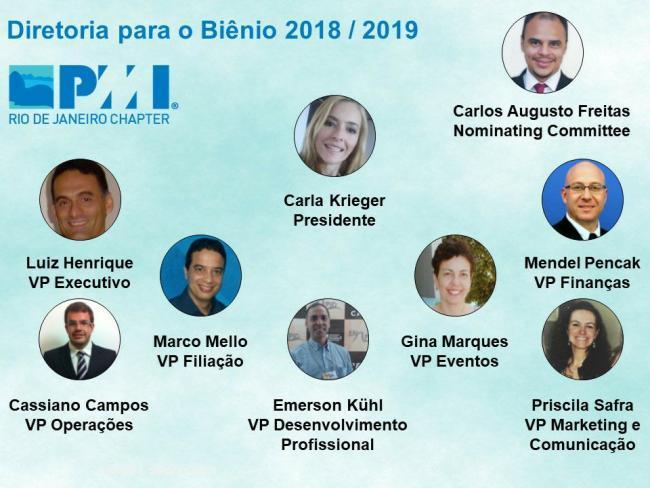 Divulgação das eleições e posse da nova diretoria no biênio 2018-2019: